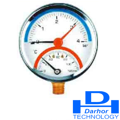 Thermometer pressure gauge (H)