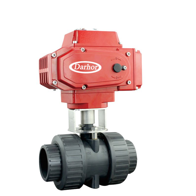 Electric 2 way UPVC Plastic Ball Valve