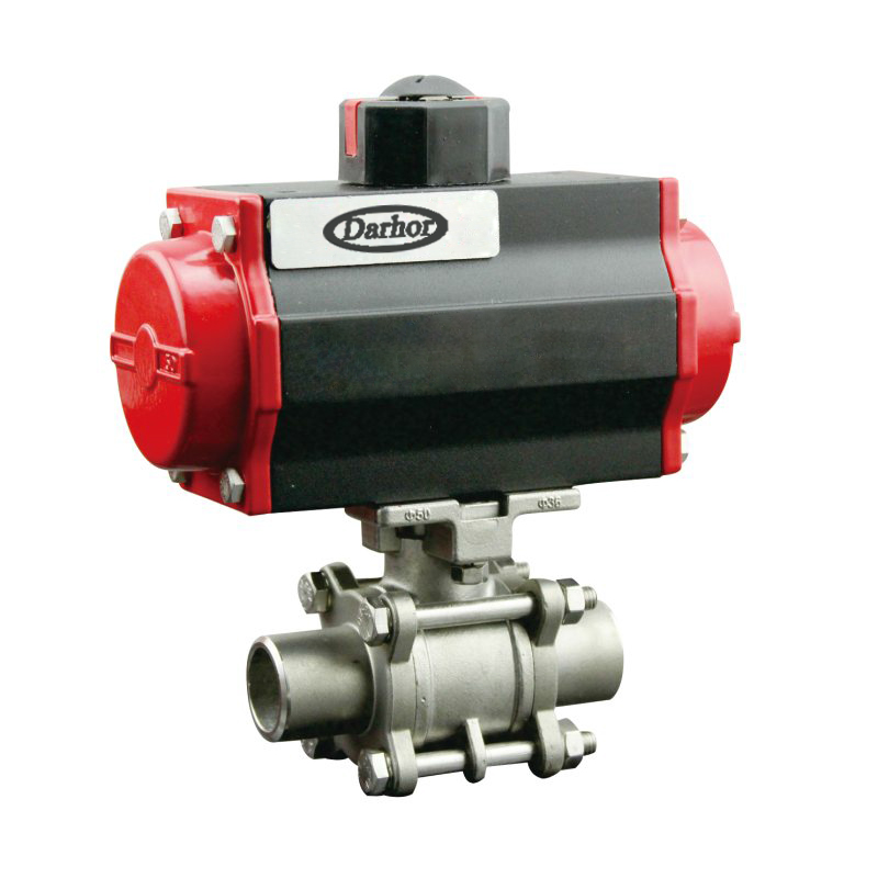 Pneumatic 2 way welded Ball Valve