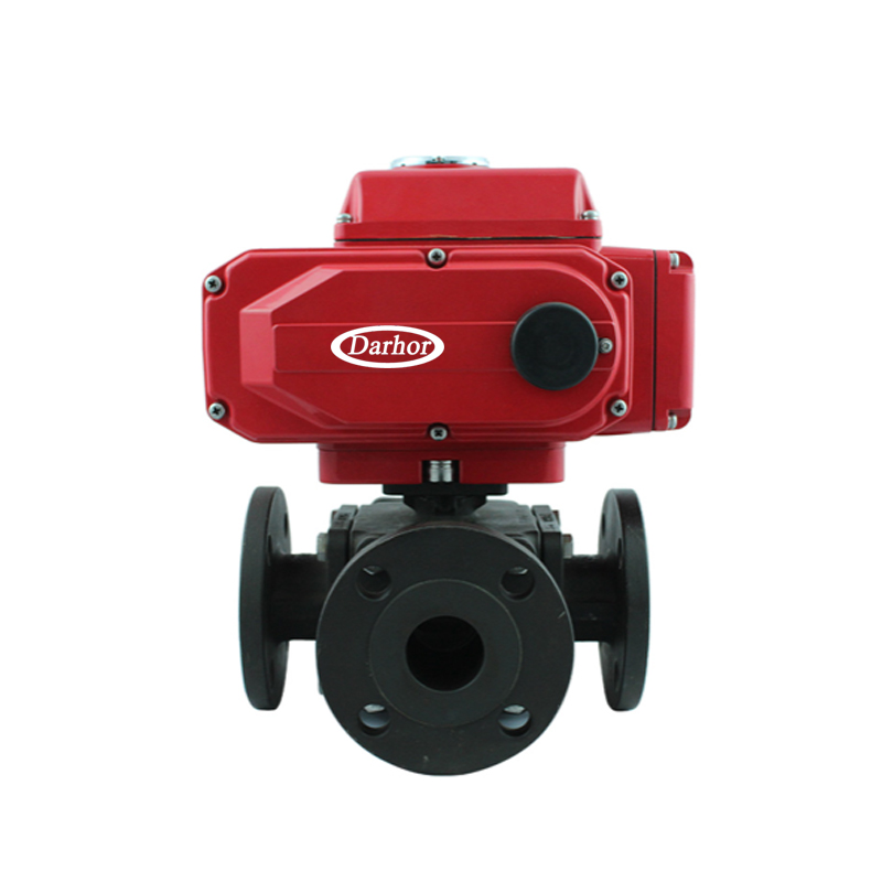 Electric Carbon Steel Flange Ball Valve