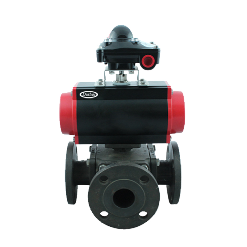Pneumatic Carbon Steel Flange Ball Valve