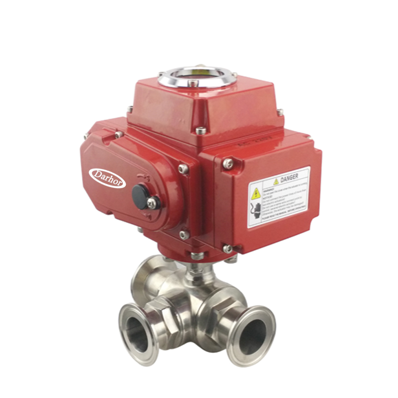 Electric 3 way Clamp Ball Valve