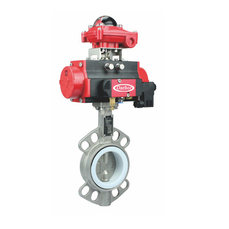 Pneumatic  Stainless Steel Butterfly Valve